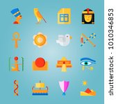 icon set about egypt with bird  ... | Shutterstock .eps vector #1010346853