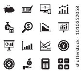 solid black vector icon set  ... | Shutterstock .eps vector #1010352058