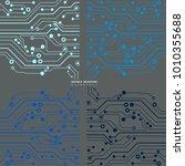 circuit board  technology... | Shutterstock .eps vector #1010355688