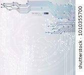 circuit board  technology...   Shutterstock .eps vector #1010355700