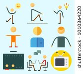 icons set about human with... | Shutterstock .eps vector #1010364220