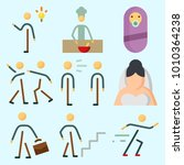 icons set about human with... | Shutterstock .eps vector #1010364238