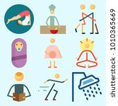 icons set about human with baby ... | Shutterstock .eps vector #1010365669