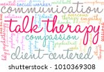 talk therapy word cloud on a... | Shutterstock .eps vector #1010369308