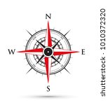 red and black compass | Shutterstock .eps vector #1010372320