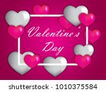 valentine's day heart and love... | Shutterstock .eps vector #1010375584