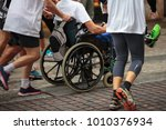 disabled athlete in a sport... | Shutterstock . vector #1010376934