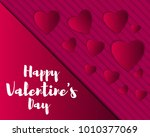 valentine s day abstract... | Shutterstock .eps vector #1010377069