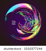 moving colorful lines of... | Shutterstock .eps vector #1010377144