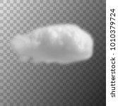 dark cloud floats in the dark...   Shutterstock .eps vector #1010379724