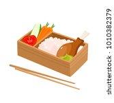 vector illustration of japanese ... | Shutterstock .eps vector #1010382379