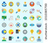 icons set about marketing with... | Shutterstock .eps vector #1010385700