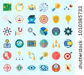 icons set about marketing with...   Shutterstock .eps vector #1010385733