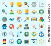 icons set about marketing with... | Shutterstock .eps vector #1010385904