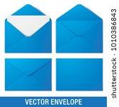 set of blue vector envelopes in ...   Shutterstock .eps vector #1010386843