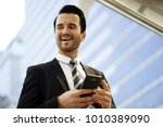 business man with suit  big... | Shutterstock . vector #1010389090