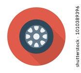 wheel tire car | Shutterstock .eps vector #1010389396