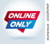 online only arrow tag sign. | Shutterstock .eps vector #1010392969