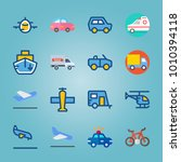 icon set about transport with... | Shutterstock .eps vector #1010394118