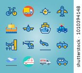 icon set about transport with... | Shutterstock .eps vector #1010394148