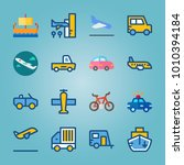 icon set about transport with... | Shutterstock .eps vector #1010394184