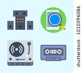 icons set about music with... | Shutterstock .eps vector #1010396086