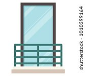balcony vector. free space for... | Shutterstock .eps vector #1010399164