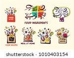 homemade cuisine for home ... | Shutterstock .eps vector #1010403154