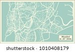 mumbai india city map in retro... | Shutterstock .eps vector #1010408179