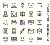 business line icons set... | Shutterstock .eps vector #1010415970