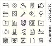 business line icons set manager ... | Shutterstock .eps vector #1010416750
