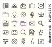 business line icons set... | Shutterstock .eps vector #1010418340