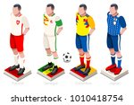 soccer world cup a group of... | Shutterstock .eps vector #1010418754