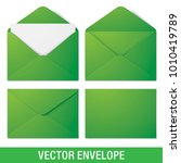 set of green vector envelopes... | Shutterstock .eps vector #1010419789