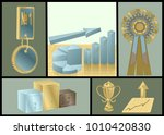 achievements abstract set | Shutterstock .eps vector #1010420830