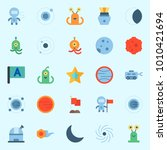 icons set about universe with... | Shutterstock .eps vector #1010421694