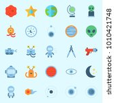 icons set about universe with... | Shutterstock .eps vector #1010421748