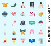 icons set about wedding with... | Shutterstock .eps vector #1010425549