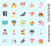 icons set about wedding with... | Shutterstock .eps vector #1010425648