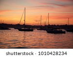 sunset on 4th of july   sailing ... | Shutterstock . vector #1010428234