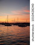 sunset on 4th of july   sailing ... | Shutterstock . vector #1010428240