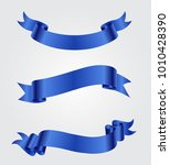 vector blue ribbons.ribbon... | Shutterstock .eps vector #1010428390