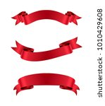 ribbon banners.vector ribbons... | Shutterstock .eps vector #1010429608