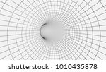 wireframe 3d surface tunnel...   Shutterstock .eps vector #1010435878