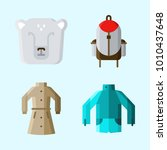 icons set about winter with...   Shutterstock .eps vector #1010437648
