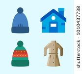icons set about winter with...   Shutterstock .eps vector #1010437738