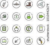 line vector icon set   suitcase ... | Shutterstock .eps vector #1010442679