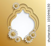 3d frames decorated with golden ... | Shutterstock . vector #1010446150