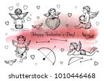 vector illustration. pen style... | Shutterstock .eps vector #1010446468