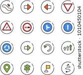 line vector icon set  ... | Shutterstock .eps vector #1010450104